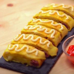 Ham-n-Cheese-Egg-Roll