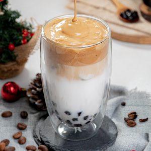 Boba Dalgona Coffee Lattee