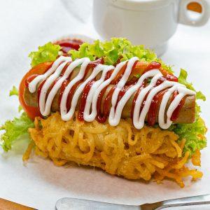 resep hotdog mie