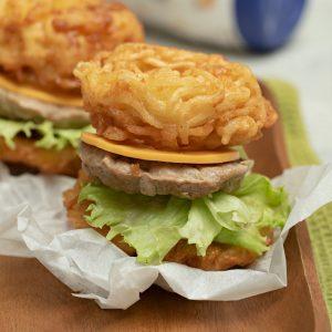 resep burger mie