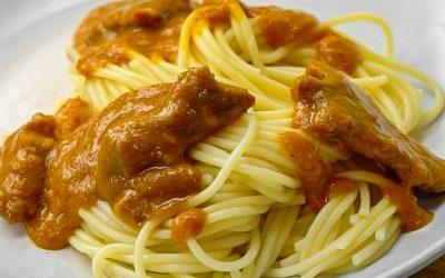 Resep Spaghetti Rendang Tanpa Santan Creamy Pedas
