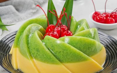 Resep Pudding Lumut Mentega